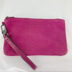 Aimee Kestenberg Fuchsia Wristlet Leather